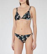 Reiss Annalise Print B - Printed Triangle Bikini Briefs in White, Womens