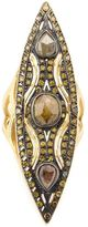 Loree Rodkin Art Deco style marquise shaped diamond ring
