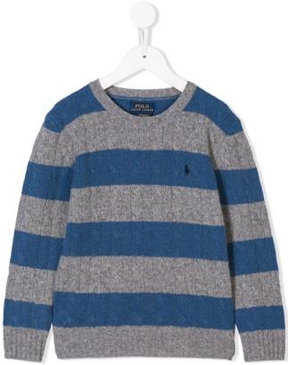 Ralph Lauren Kids Striped Knit Jumper