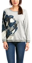 Desigual Women's Round Collar Long sleeve Sweatshirt - Grey -
