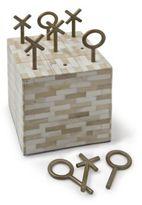 Regina-Andrew Design Regina Andrew Design Tic Tac Toe-Multi-Tone Bone Block