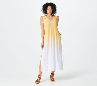 Elizabeth & Clarke Dip-Dye Maxi Dress with StainTech