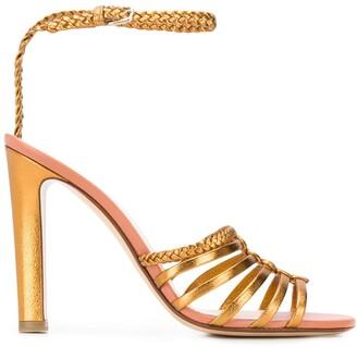 Francesco Russo Metallic Open-Toe Sandals