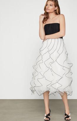 BCBGMAXAZRIA Strapless Ruffled Dress
