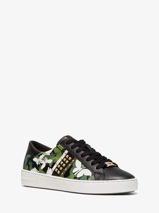 MICHAEL Michael Kors Keaton Butterfly Camo Leather Sneaker