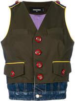 DSQUARED2 embellished button vest