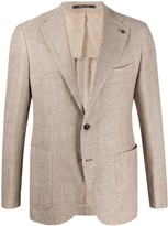 Tagliatore single breasted pique blazer