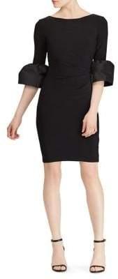 Lauren Ralph Lauren Taffeta Jersey Sheath Dress