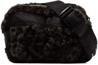 Sacai faux-fur cross-body bag