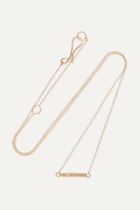 Melissa Joy Manning Net Sustain 14-karat Gold Diamond Necklace