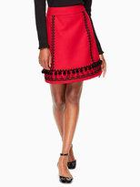 Kate Spade Pom embroidered skirt