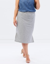 Junarose Slit Detailed Midi Skirt