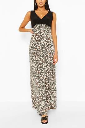 boohoo 2 in 1 Leopard Maxi Dress