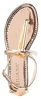 Charlotte Russe Glold-Trim T-Strap Sandals