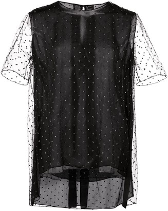 Adam Lippes sheer sleeve T-shirt