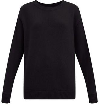 LES TIEN Round-neck Cashmere Sweater - Black