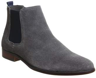 Ask the Missus Interest Chelsea Boots Grey Navy Suede