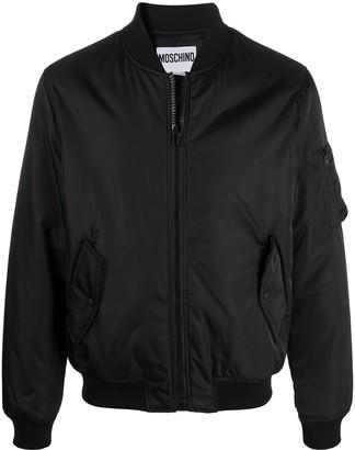 Moschino Box Logo Zip-Up Bomber Jacket