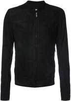 Rick Owens zip front jacket - men - Leather/Cupro - 48