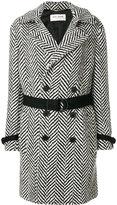 Saint Laurent herringbone wool Double-breasted coat