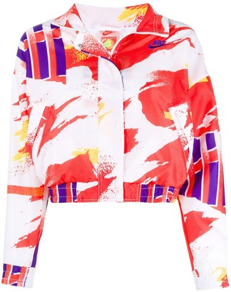 Nike Abstract Print Crop Jacket