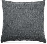 "DKNY City Pleat Gray 18"" x 18"" Decorative Pillow"