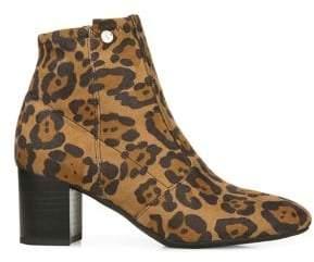 Franco Sarto Nastia Cheetah-Print Dress Booties