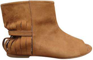 Maison Margiela \N Brown Suede Ankle boots