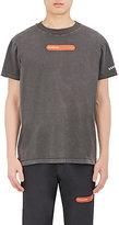 Visitor On Earth Men's Appliquéd Cotton T-Shirt