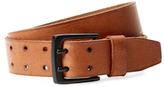 Andrew Marc Leather Grid Belt