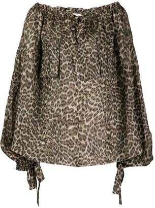 Zimmermann Suraya leopard print blouse