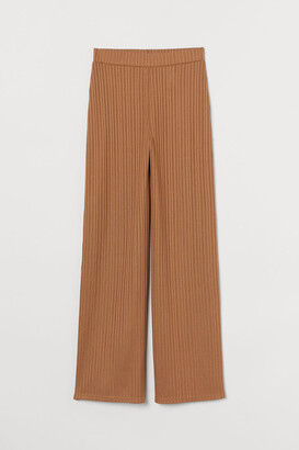 H&M Ribbed Pants - Beige