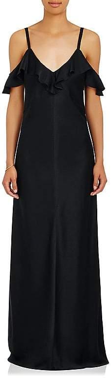 A.L.C. Women's Evana Satin Cold-Shoulder Gown