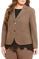 Calvin Klein Plus 2 Button Luxe Notch Collar Jacket