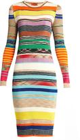 Missoni Striped ribbed-knit dress