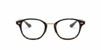 Ray-Ban Men's Rx5355f Asian Fit Square Eyeglass Frames Prescription Eyewear