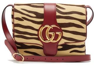 Gucci Arli Tiger Print Calf Hair Leather Cross Body Bag - Womens - Multi