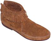 Minnetonka Women's Back Zipper Boot - Suede