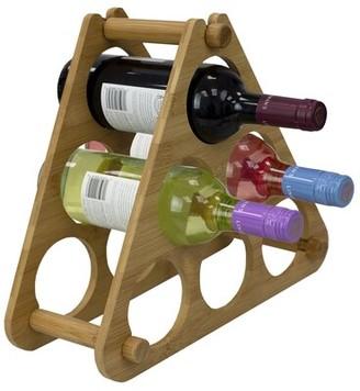Rebrilliant Valencia Bamboo 6 Bottle Tabletop Wine Bottle Rack