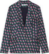 Diane von Furstenberg Wesley printed silk-twill blazer