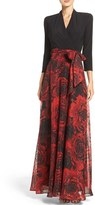Chetta B Mixed Media Gown