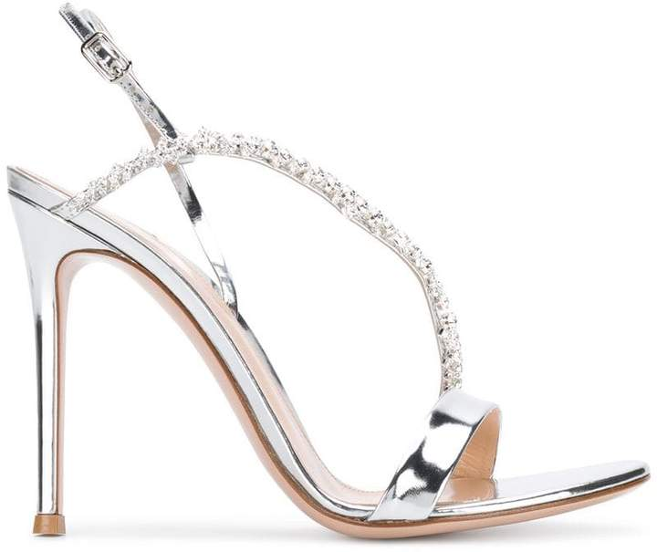 Gianvito Rossi crystal embellished sandals