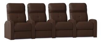 Latitude Run Home Theater Row Seating (Row of 4 Reclining Type: Manual, Body Fabric: Classic Cappucino