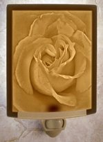 The Porcelain Garden Rose Petals - CURVED Porcelain Lithophane Night Light