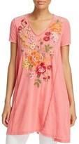 Johnny Was Collection Karlotta Embroidered Drape Tee