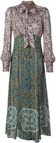 Anna Sui floral pattern maxi dress