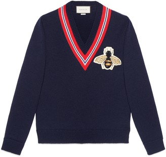 Gucci Wool sweater with bee applique