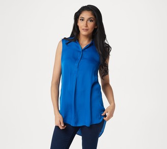 Vince Camuto Rumple Henley Button Front Tunic