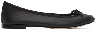 Repetto Black Leather Cendrillon Ballerina Flats