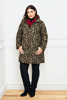 Classic Women's Plus Size Cheetah Down Coat-Brown Animal Print